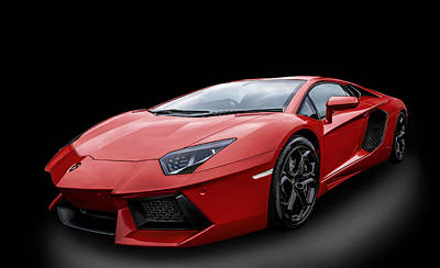 Photograph - Red Aventador by Matt Malloy