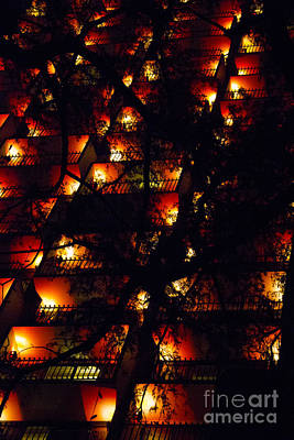 Photograph - Red Balconies by Alycia Christine