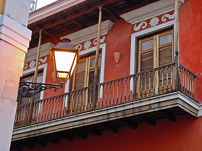 Red Balcony Art Print