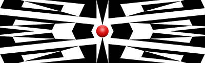 Abstract Royalty-Free and Rights-Managed Images - Red Ball 9 Panoramic by Mike McGlothlen