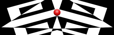 Abstract Royalty-Free and Rights-Managed Images - Red Ball 12 H Panoramic by Mike McGlothlen