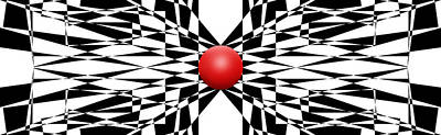 Abstract Royalty-Free and Rights-Managed Images - Red Ball 22 Panoramic by Mike McGlothlen