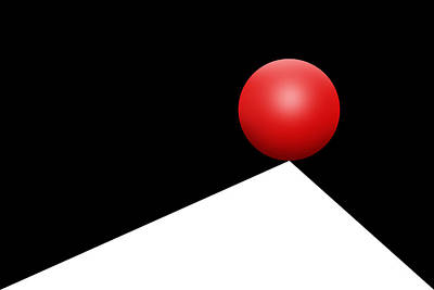 Op Art Photograph - Red Ball 29 by Mike McGlothlen