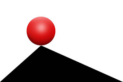 Op Art Photograph - Red Ball 30 by Mike McGlothlen