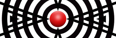Abstract Royalty-Free and Rights-Managed Images - Red Ball 6 Panoramic by Mike McGlothlen