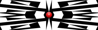 Abstract Royalty-Free and Rights-Managed Images - Red Ball 9a Panoramic by Mike McGlothlen