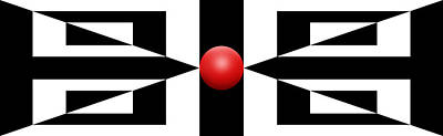 Abstract Royalty-Free and Rights-Managed Images - RED BALL 2a Panoramic by Mike McGlothlen