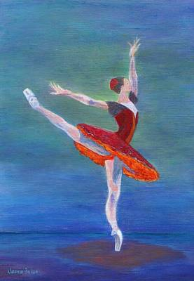 Painting - Red Ballerina by Jamie Frier