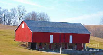 Photograph - Red Bank Barn by Bob Sample