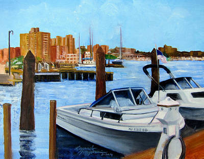 Red Bank Nj From Marine Park Art Print