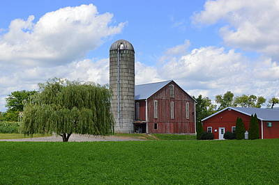 Photograph - Red Barn #1 - Mifflinburg Pa by Joel E Blyler