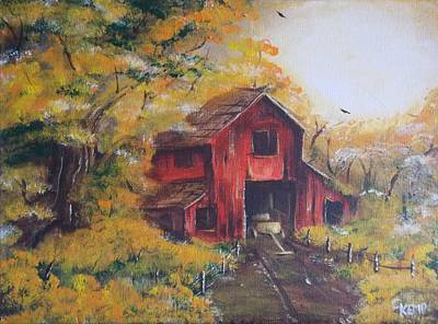 Painting - Red Barn 2 by Chuck Kemp