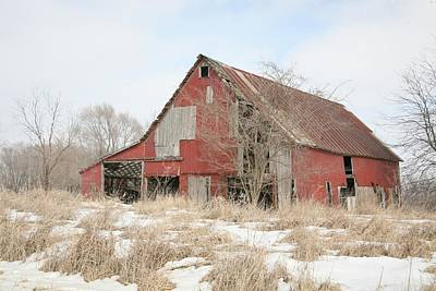 Photograph - Red Barn 9701 by Kathy Cornett