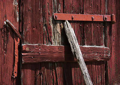 Photograph - Red Barn Abstract by Rebecca Sherman