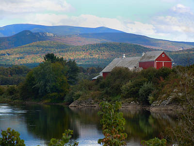 Photograph - Red Barn Along The Connecticut River by Nancy Griswold