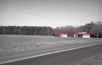 Photograph - Red Barn  by Amazing Photographs AKA Christian Wilson
