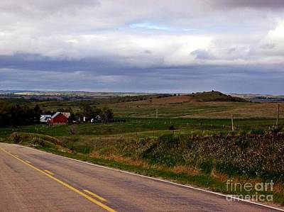 Photograph - Red Barn And Prairie by Christian Mattison