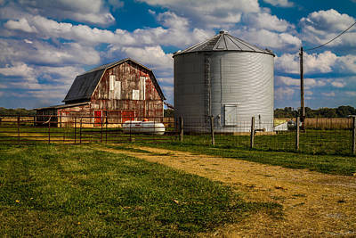 Photograph - Red Barn And Silo by Ron Pate