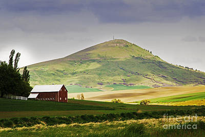 Photograph - Red Barn And Steptoe Butte by Sonya Lang