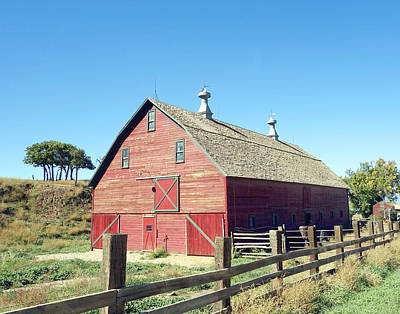Photograph - Red Barn by Ann Powell