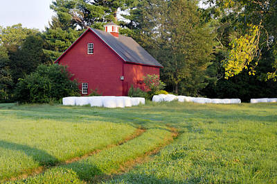 Red Barn Appleton Farm Art Print by David Stone