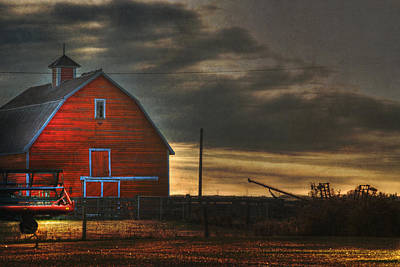 Photograph - Red Barn At Dawn by Lisa Knechtel