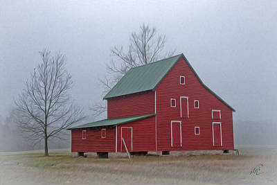 Photograph - Red Barn At Ware Neck by Williams-Cairns Photography LLC