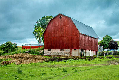 Photograph - Red Barn by Bill Gallagher