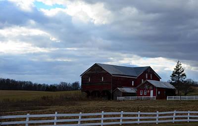Photograph - Red Barn Blue Sky 2 by Cathy Shiflett