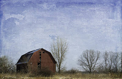 Photograph - Red Barn Blue Sky by Kathleen Scanlan