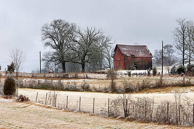 Photograph - Red Barn by Carol Erikson