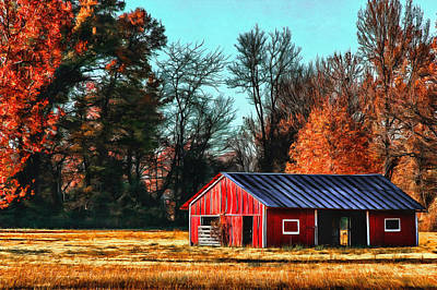 Photograph - Red Barn by CarolLMiller Photography