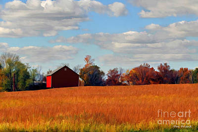 Photograph - Red Barn by Dan Friend
