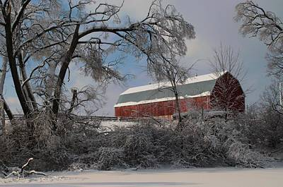 Photograph - Red Barn by Douglas Pike