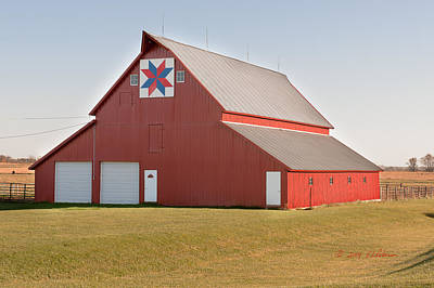 Photograph - Red Barn  by Edward Peterson
