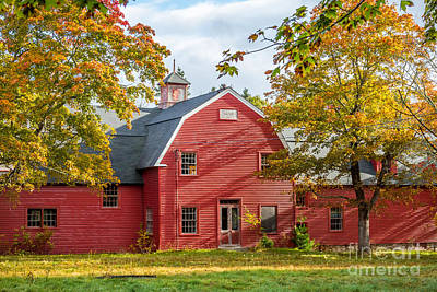 Photograph - Red Barn Fall by Susan Cole Kelly