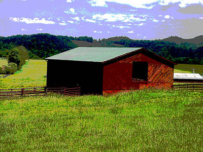 Photograph - Red Barn Farm by Robert J Andler
