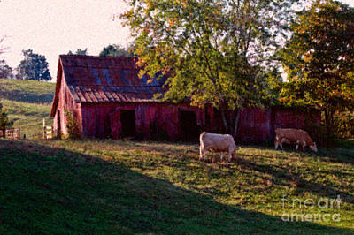Red Barn Five Art Print