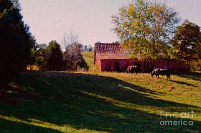 Red Barn Four Art Print