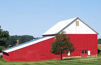 Photograph - Red Barn by Gena Weiser