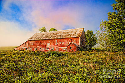 Photograph - Red Barn In A Field. by Don Landwehrle