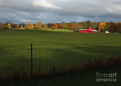Photograph - Red Barn In Light by Kelly Morrow