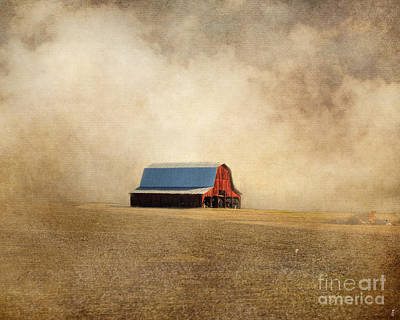 Photograph - Red Barn In Missouri by Jai Johnson