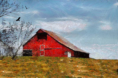 Photograph - Red Barn In The Fall by Ericamaxine Price