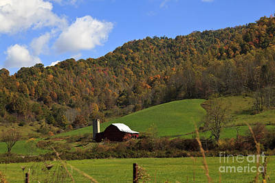 Barns Photograph - Red Barn In The Mountains by Jill Lang