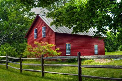 Red Barn In Tyringham - Berkshire County Art Print