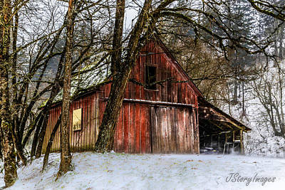 Red Barn Art Print by Jimmy Story