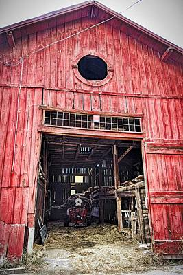 Signed By Artist Photograph - Red Barn by Joan Reese