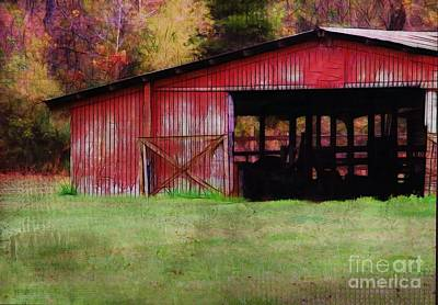 Photograph - Red Barn by Judi Bagwell