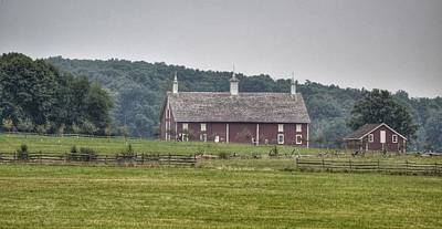 New Years - Red Barn by Kathy McCabe